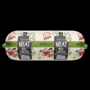 Natural Fresh Meat Biologisch Honden Worst Rundvlees-Kip 600 gr